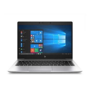 "Лаптоп HP EliteBook 745 G6 (7KP90EA)(сребрист), четириядрен Zen 2 AMD Ryzen 7 PRO 3700U 2.3/4.0 GHz, 14.0"" (35.56 cm) Full HD Anti-Glare Display, (HDMI), 16GB DDR4, 512GB SSD, 1x USB Type-C, Windows 10 Pro, 1.53 kg image"