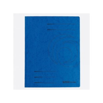 Папка от картон Herlitz Easyorga, с машинка, синя image