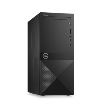 Настолен компютър Dell Vostro 3671 MT (N510VD3671EMEA01_R2005_22NM_UBU), четириядрен Coffee Lake Intel Core i3-9100 3.6/4.2 GHz, 8GB DDR4, 1TB HDD, 2x USB 3.1 Gen 1. клавиатура и мишка, Linux image