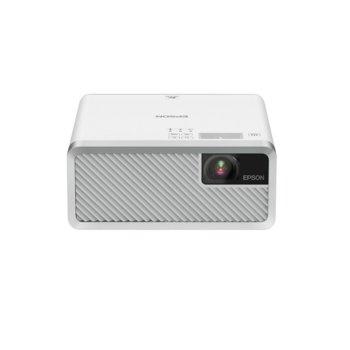 Проектор Epson EF-100 W, 3LCD, WXGA (1280 x 800), 2,500,000:1, 2000 lm, HDMI, Bluetooth, USB, бял image