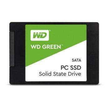 "Памет SSD 480GB Western Digital Green WDS480G2G0A, SATA 6Gb/s, 2.5"" (6.35cm), скорост на четене 545 MB/s, скорост на запис 465 MB/s image"