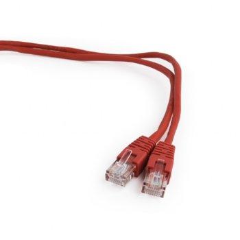 Пач кабел Gembird, UTP, Cat 5e, 2m, червен image