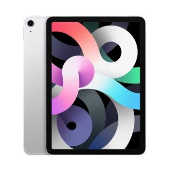 "Таблет Apple iPad Air 4 Cellular (MYGX2HC/A)(сребрист), 10.9"" (27.69 cm) Retina дисплей, шестядрен A14 Bionic, 4GB RAM, 64GB Flash памет, 12.0 & 7.0 MPix камера, Ipad OS image"