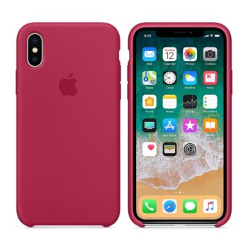 Apple iPhone X Silicone Case - Rose Red product