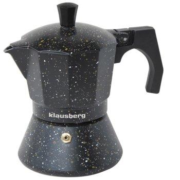 Кубинска кафеварка Klausberg KB 7159, 6 чаши, черна image