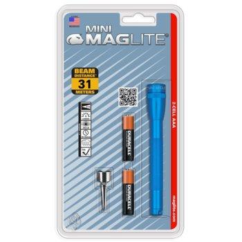 Фенер Mini MAGLITE M3A116U, 2 батерии AAA, 9 lm, водоустойчивост, син image