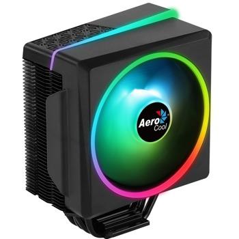 Охлаждане за процесор AeroCool Cylon 4F ARGB, съвместимо с LGA 2066/2011/115X/1200/775 & AMD AM4/AM3+/AM3/AM2+/AM2/FM2/FM1 image