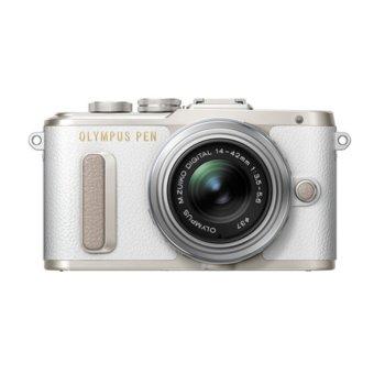 """Фотоапарат Olympus PEN E-PL8 (бял) в комплект с обектив Olympus MFT 14-42mm f/3.5-5.6 II R MSC и Olympus Shoulder Strap Get Together, 16.0 Mpix, 3.0"""" (7.62 cm) TFT дисплей, Wi-Fi, Bluetooth, SDXC/HC, USB, HDMI image"""