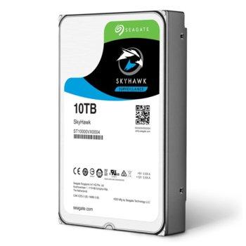 """Твърд диск 10TB Seagate SkyHawk ST10000VX0004, SATA 6Gb/s, 256MB кеш, 3.5""""(8.89 cm) image"""