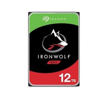 "Твърд диск 12TB Seagate IronWolf NAS, SATA 6Gb/s, 7200 rpm, 256MB кеш, 3.5"" (8.89cm) image"