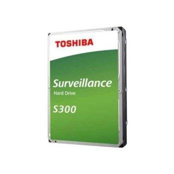 "Твърд диск 4TB Toshiba S300 - Surveillance, SATA 6Gb/s, 5400 rpm, 128MB, 3.5"" (8.89cm), bulk image"