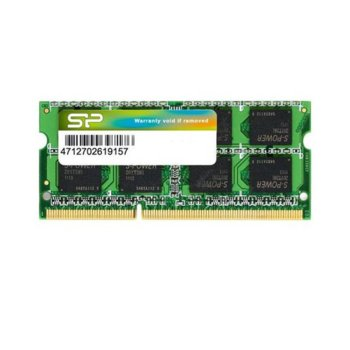 Памет 2GB DDR3, 1600MHz SO-DIMM, Silicon Power SP002GBSTU160V02, 1.5V image