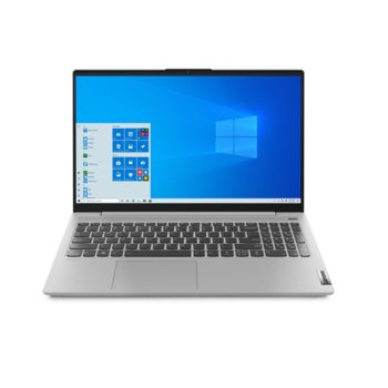"Лаптоп Lenovo IdeaPad 5 15ITL05 (82FG0094BM)(сив), четириядрен Tiger Lake Intel Core i7-1165G7 4.7GHz, 15.6"" (39.62 cm) Full IPS Anti-Glare Display & GF MX450 2GB, (HDMI), 16GB DDR4, 512GB SSD, 1x USB-C, No OS  image"