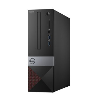 Настолен компютър Dell Vostro 3471 SFF (N214VD3471EMEA01_R2005_22NM_UBU-14), шестядрен Coffee Lake Intel Core i5-9400 2.9/4.1 GHz, 4GB DDR4, 1TB HDD, 2x USB 3.1 Gen1, клавиатура и мишка, Linux image