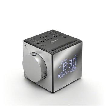 Радио портативно Sony ICF-C1PJ, CR2032 Lithium Battery, USB, бяло image