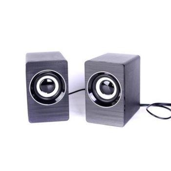 Тонколони FT-H1, 2.0, 2х3W, 4 Ohm, 3.5mm жак, черни image