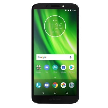 "Смартфон Motorola Moto G6 Play(индигово), поддържа 2 sim карти, 5.7"" (14.48 cm) HD+ дисплей, осемядрен Qualcomm Snapdragon 430 1,4 GHz, 3GB RAM, 32GB Flash памет(+microSD слот), 13 & 8 Mpix camera, Android 8.0, 175 g image"