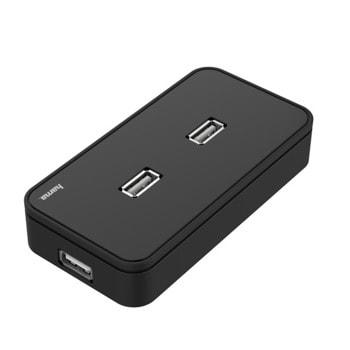 USB Хъб HAMA 200123, 7 порта, USB 2.0, черен image
