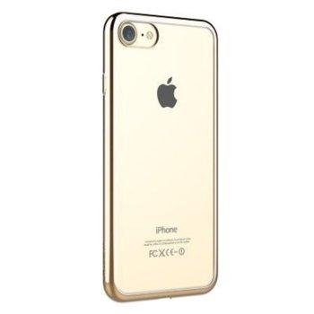 Силиконов протектор Devia Glitter за iPhone 7, шампанско/златист image