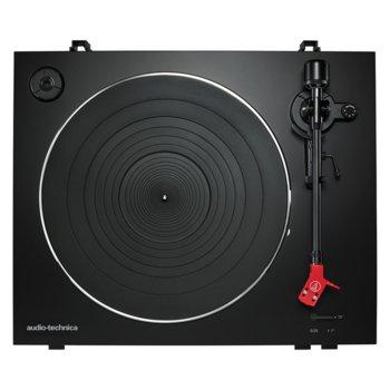 Грамофон Audio-Technica AT-LP3, автоматичен, ремъчно задвижване, 33/45 оборота в минута, 2x RCA, черен image