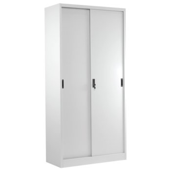 Метален шкаф Carmen CR-1266 L, 4x рафтове, прахово боядисан, метален, сив image