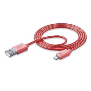 Кабел Cellular Line Samsung, USB 2.0 A(M) към USB micro (M) 1m, червен image