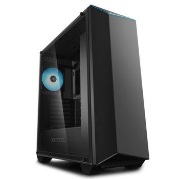 Кутия DeepCool EARLKASE v2, ATX, 1 x USB3.0, RGB Aura Sync Controller, черна, без захранване image