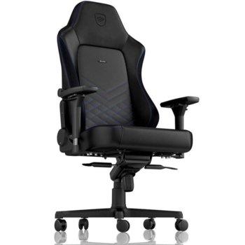 Геймърски стол noblechairs HERO (NBL-HRO-PU-BBL), изкуствена кожа, до 150кг макс. тегло, черен/син image