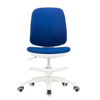 Детски стол RFG Candy Foot White, дамаска, синя седалка, синя облегалка image