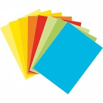 Картон Асорти, Цветен, А4, 160g/m2, 125л., Наситени цветове image
