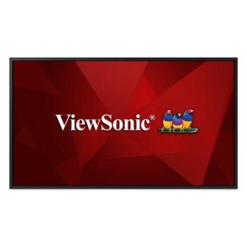 "Публичен дисплей ViewSonic CDE4320, 42.51"" (107.9754 cm), 4K/UHD LED панел, 3GB DDR4, 16GB eMMC, LAN, HDMI, DVI-D, VGA image"
