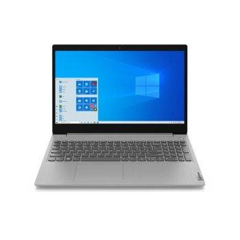 "Лаптоп Lenovo IdeaPad 3 15ADA05 (81W100N9RM)(сив), четириядрен Zen 2 AMD Ryzen 5 3500U 2.1/3.7GHz, 15.6"" (39.62 cm) Full HD TN Anti-Glare Display, (HDMI), 8GB DDR4, 512GB SSD, 2x USB 3.2 Gen 1, Free DOS image"