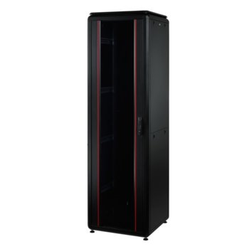 "Комуникационен шкаф Mirsan MR.GTV42U61.01, 19"", 42U, 610 x 1000 x 2053, свободностоящ, товароносимост 1000кг, черен image"