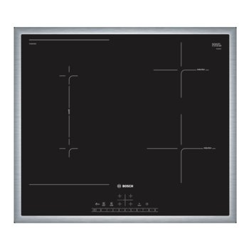 Индукционен стъклокерамичен плот за вграждане, 4 нагревателни зони, 17 степени на мощност, черен image