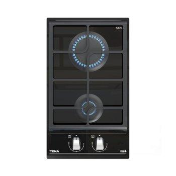 Плот за вграждане Teka GZC 32300, газов, стъклокерамика, 2 нагревателни зони, 9 степени, механично управление, таймер, черен image