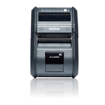 Етикетен баркод принтер Brother RuggedJet RJ-3150, 32MB RAM, Bluetooth, USB 2.0, IEEE 802.11b/g/n, мобилен image