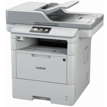 Мултифункционално лазерно устройство Brother MFC-L6900DW, монохромен принтер/копир/скенер/факс, 1200x1200 dpi, 50стр/мин, Wi-Fi/NFC, LAN, USB, ADF, двустранен печат, A4 image