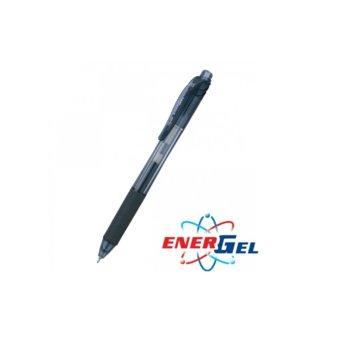 Ролер Pentel Energel BLN105, черен цвят на писане, дебелина на линията 0.5 mm, гел, син, цената е за 1бр. (продава се в опаковка от 12бр.) image