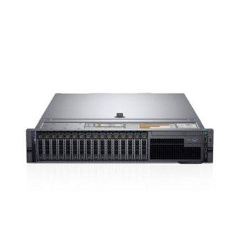 Сървър Dell PowerEdge R740 (PER740CEEM2), десетядрен Cascade Lake Intel Xeon Silver 4210 2.2/3.2 GHz, 32GB RDIMM, 2x 600GB HDD, 1GbE LOM, 3x USB 3.0, без ОС, (1+1), 750W PSU  image