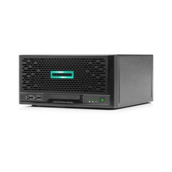 Сървър HPE ProLiant MicroServer Gen10 Plus (P16006-421), четириядрен Intel Xeon E E-2224 3.4/4.6 GHz, 16GB DDR4 SDRAM, без твърд диск, 4x 1GbE LOM, 4x USB 3.1, без ОС, 1x 180 W image
