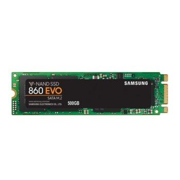 Памет SSD 500GB Samsung 860 EVO, SATA 6Gb/s, M.2 (2280), скорост на четене 550 MB/s, скорост на запис 520Мb/s image