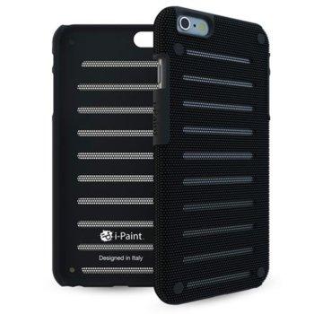 Калъф за Apple iPhone 8, стоманен, iPaint Black MC 141001, удароустойчив, черен image