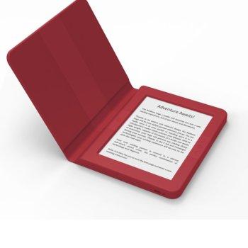 """Електронна книга Bookeen SAGA, 6""""(15.24 cm) E-Ink Carta мултитъч дисплей, Wi-Fi, Cortex A8 1GHz процесор, 8GB Flash памет, micro USB 2.0, microSD слот, вграден жироскоп, бордо image"""