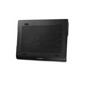 """Охлаждаща поставка за лаптоп NOTEPAL A200, черна,алуминиева за лаптопи до 16"""" (40.64 cm)  image"""
