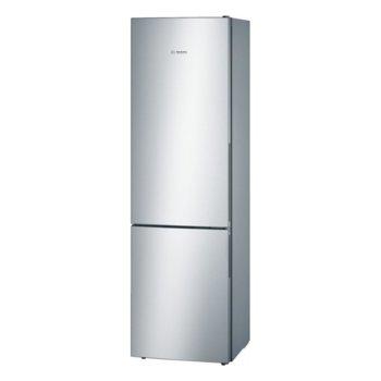 Хладилник с фризер Bosch KGV39VL33, клас A++, 342 л. общ обем, свободностоящ, 237 kWh/годишно, NoFrost, VitaFresh чекмедже, инокс image