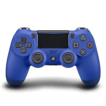 Геймпад PlayStation DualShock 4 V2 - Wave Blue, безжичен, за PS4, син image