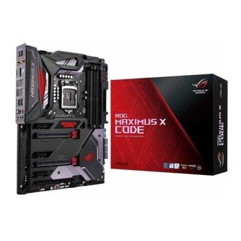 Дънна платка Asus ROG Maximus X Code, Z370, LGA1151, DDR4, PCI-E(DisplayPort&HDMI)(SLI&CFX), 6x SATA 6Gb/s, 2x M.2, 4x USB 3.1 Gen1, 2x 3.1 Gen2, Wi-Fi, ATX image