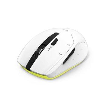Мишка Hama Milano, оптична (2400 dpi), безжична (2.4GHz), USB, бяла, 6 бутона image