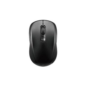 Мишка Loshine X10, безжична, оптична(1600 dpi), Bluetooth/USB, черна image