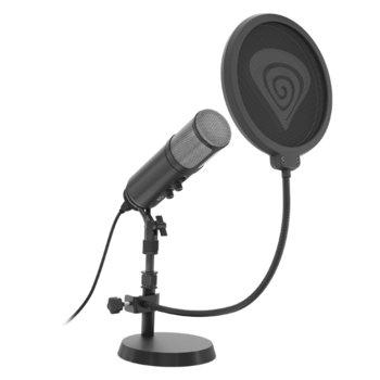 Микрофон Genesis Radium 600, 1.8 м. кабел, pop филтър, черен image